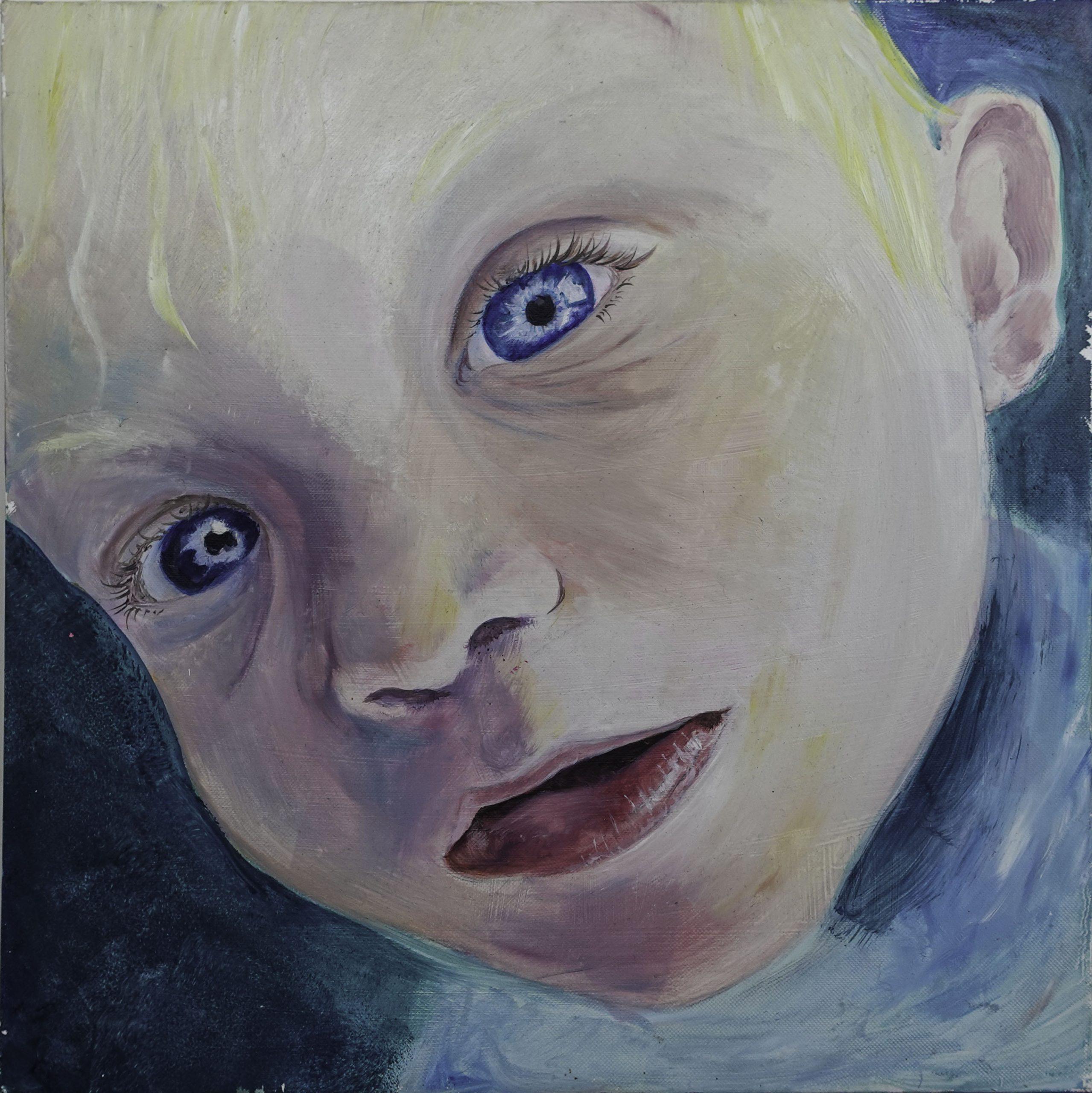 Child's Face (40cm x 40cm)