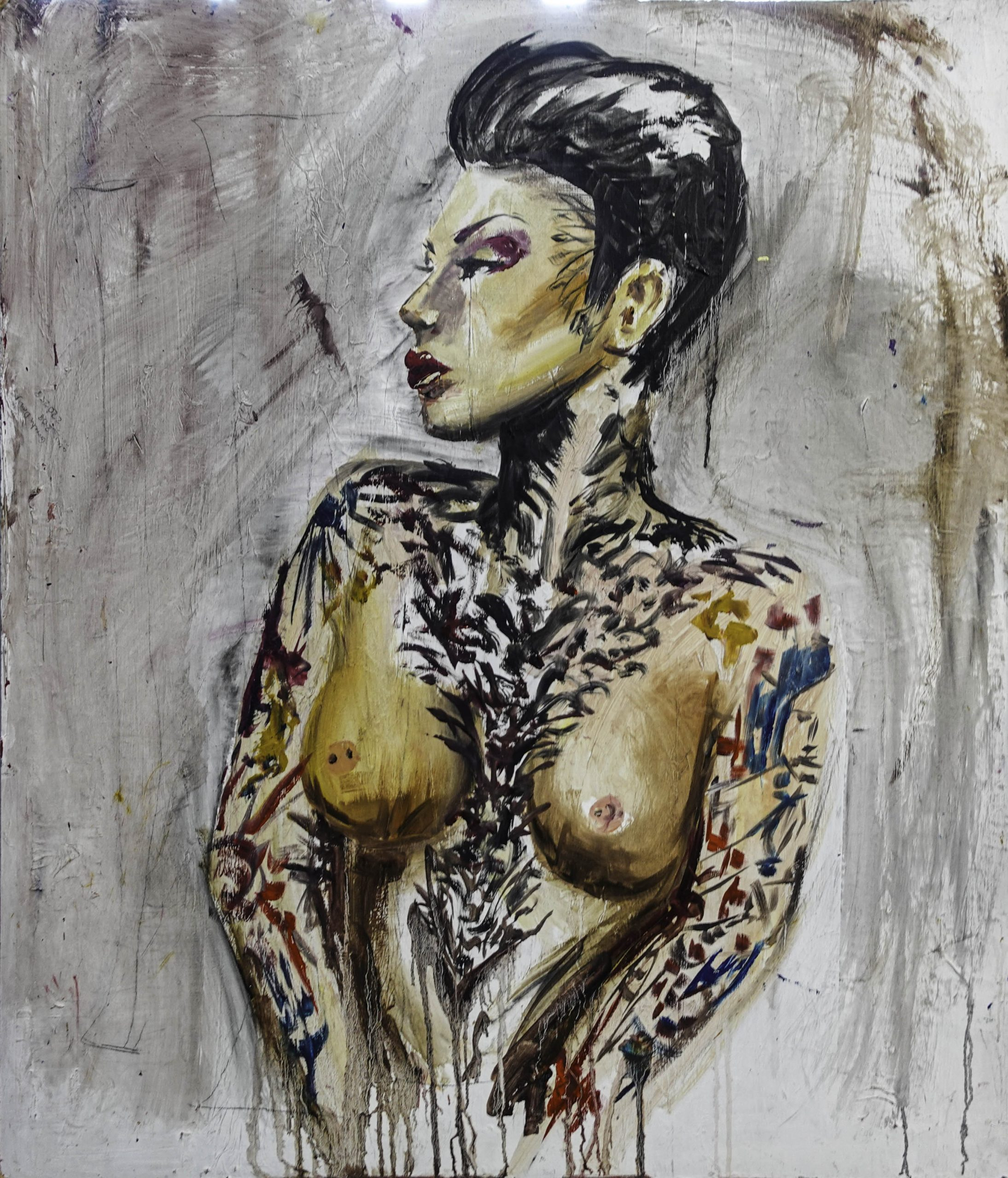 Distressed Lady Large (92cm x 106cm)