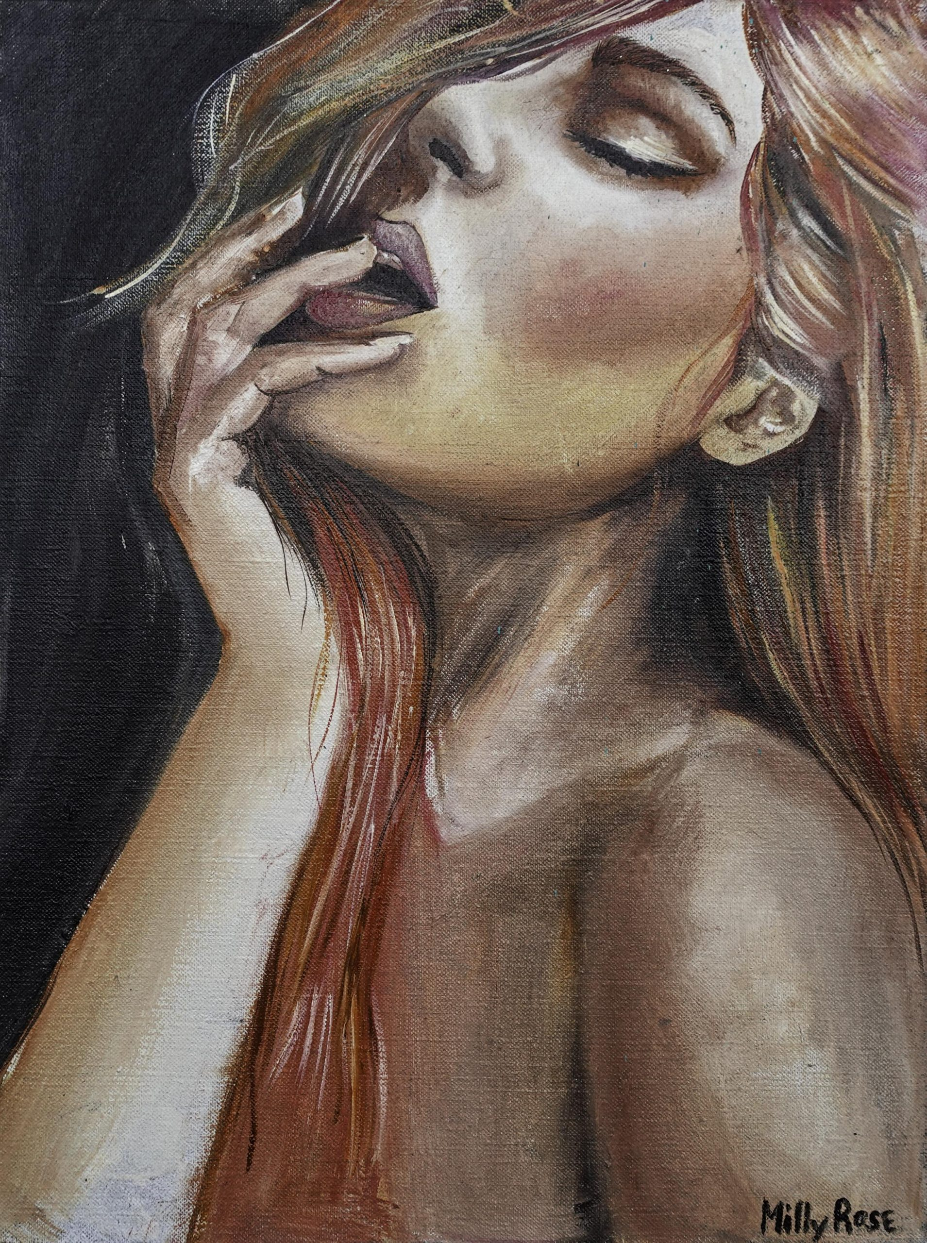 Fingers in Mouth (46cm x 62cm)