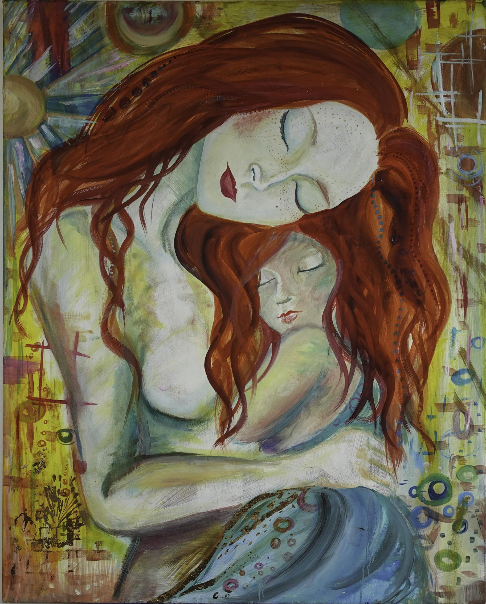 Mother and Child (81cm x 102cm)