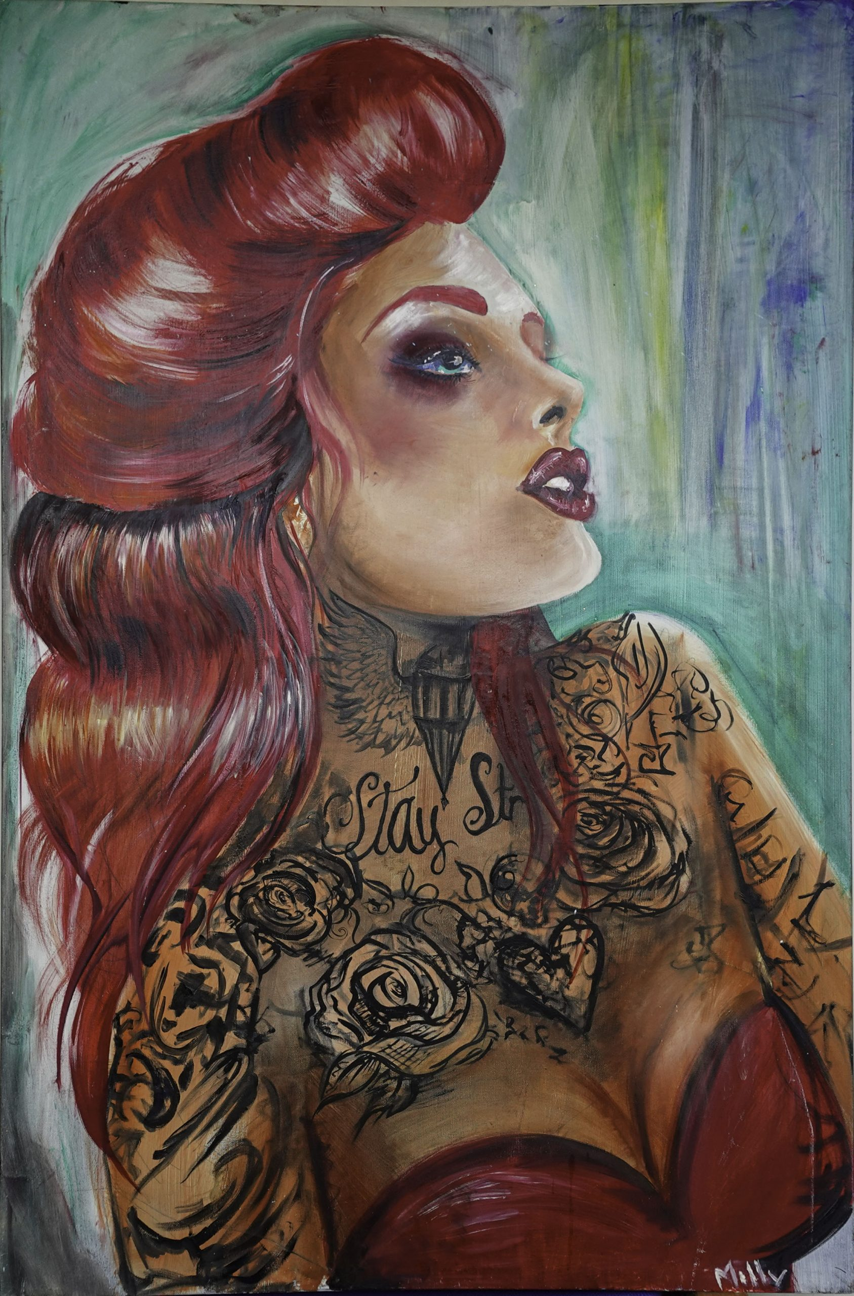Red Haired Lady (78cm x 118cm)