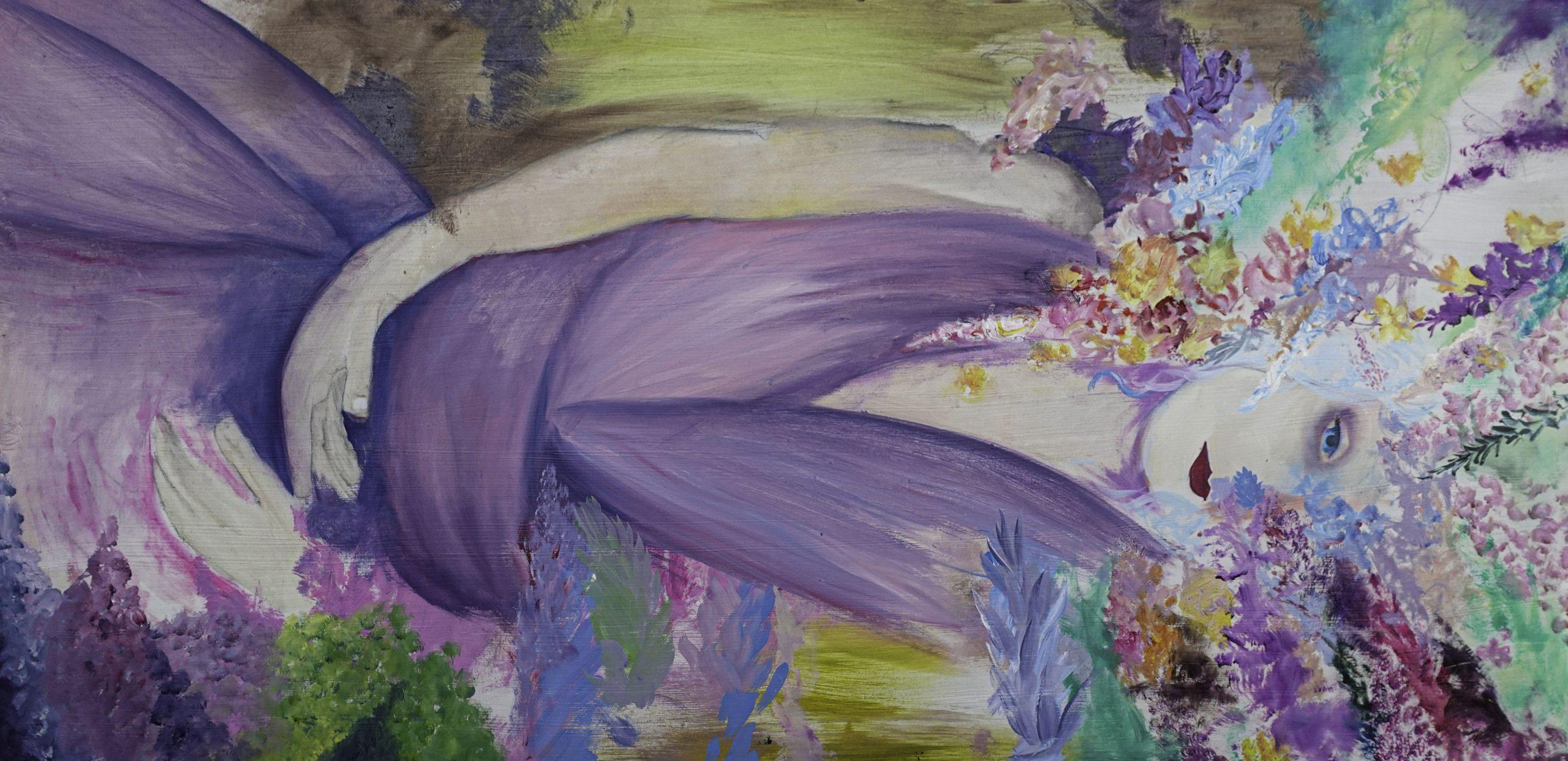(UF) Lady Lay Down (122cm x 61cm)