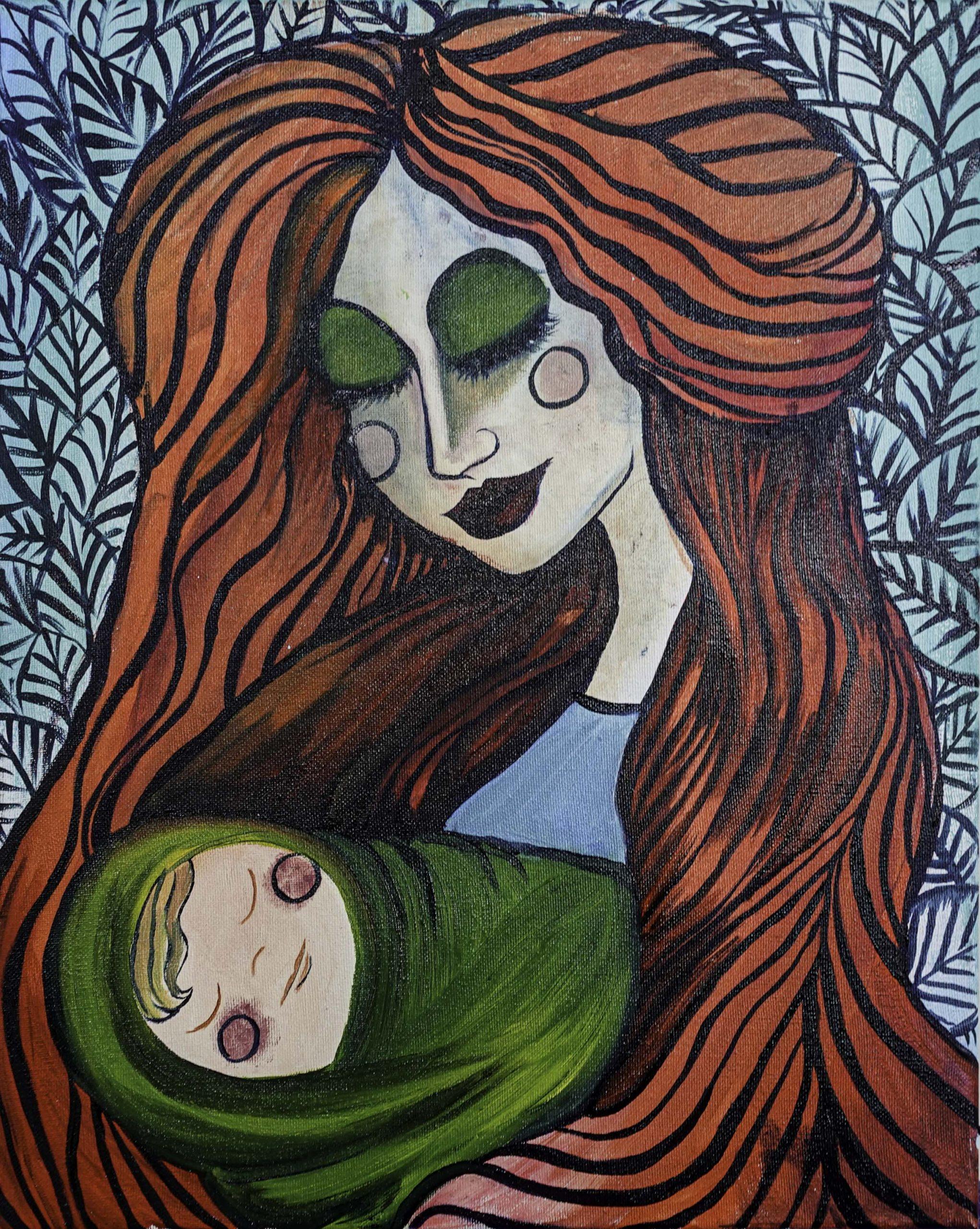 (UF) Mary and the Creepy Jesus (42cm x 60cm)
